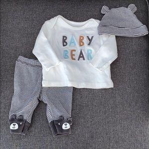 Baby bear long sleeve newborn set/ new
